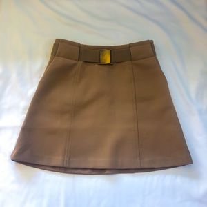 Khaki belted mini skirt (H&M)